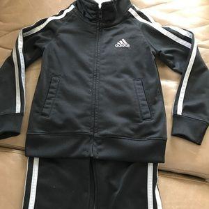 Black adidas jump suit